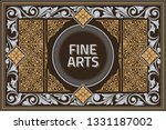 vintage decorative ornate label ...   Shutterstock .eps vector #1331187002