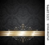 royal template with ornate... | Shutterstock . vector #133118996