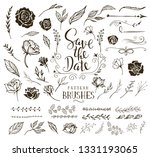 collection of design elements... | Shutterstock .eps vector #1331193065
