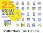 ux ui application flat icons...