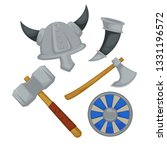 weapon and armor viking warrior ... | Shutterstock .eps vector #1331196572