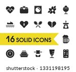 healthy icons set with remote...
