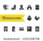 medical icons set with... | Shutterstock .eps vector #1331198738