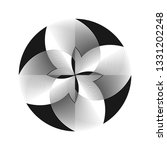 abstract halftone lines circle...   Shutterstock .eps vector #1331202248