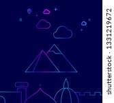 pyramids of giza  egypt vector...