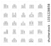 icon set   building thin line... | Shutterstock .eps vector #1331228858
