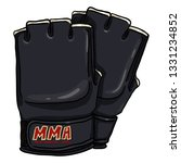 vector cartoon black fighting... | Shutterstock .eps vector #1331234852