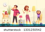 flooded house emergency flat... | Shutterstock .eps vector #1331250542
