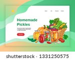 pickles concept banners website ... | Shutterstock .eps vector #1331250575