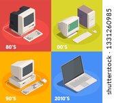 retro gadgets 2x2 isometric... | Shutterstock .eps vector #1331260985