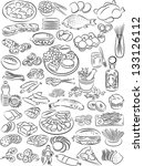 vector illustration of food... | Shutterstock .eps vector #133126112