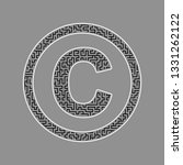 copyright sign illustration.... | Shutterstock .eps vector #1331262122