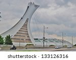 MONTREAL,CA- JUNE 09: Montreal Olympi Stadium on June 09 , 2010 in Montreal,CA.Olympic Stadium is in the Hochelaga-Maisonneuve district of Montreal built as the main venue for the 1976 Summer Olympics - stock photo