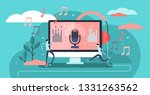 podcast vector illustration.... | Shutterstock .eps vector #1331263562