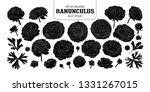 set of isolated silhouette...   Shutterstock .eps vector #1331267015