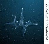 heartbeat medical polygonal... | Shutterstock .eps vector #1331269145