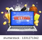 online sports betting vector... | Shutterstock .eps vector #1331271362