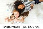 top view of happiness caucasian ... | Shutterstock . vector #1331277728