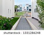 narrow footpath along between... | Shutterstock . vector #1331286248