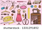 set of sewing tools and...   Shutterstock .eps vector #1331291852