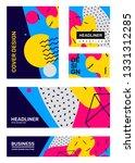 vector set of creative bright... | Shutterstock .eps vector #1331312285