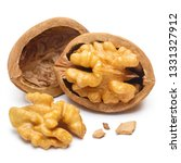 delicious walnuts  isolated on... | Shutterstock . vector #1331327912