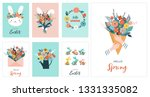 happy easter vector... | Shutterstock .eps vector #1331335082