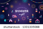 fireworks  firecracker at night ... | Shutterstock .eps vector #1331335088