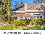 fragment of luxury house with... | Shutterstock . vector #1331365088