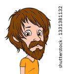 cartoon brunette long haired... | Shutterstock .eps vector #1331381132