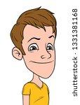 cartoon brunette funny smiling... | Shutterstock .eps vector #1331381168