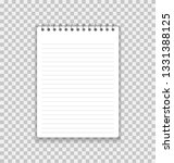 realistic notebook or notepad... | Shutterstock .eps vector #1331388125