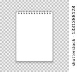 realistic notebook or notepad... | Shutterstock .eps vector #1331388128