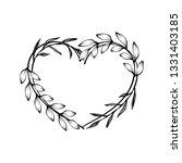heart decorative floral frame... | Shutterstock .eps vector #1331403185