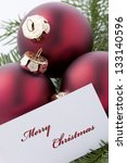 christmas ornaments with card... | Shutterstock . vector #133140596