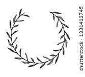 vector laurel wreath  black and ... | Shutterstock .eps vector #1331413745
