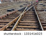 railway turnouts and rails  | Shutterstock . vector #1331416025