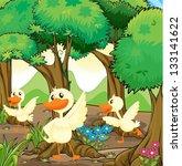 illustration of the three white ... | Shutterstock .eps vector #133141622