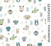 hand doodle seamless pattern... | Shutterstock .eps vector #1331416655