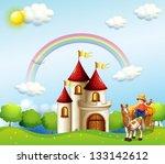 illustration of a farm boy... | Shutterstock .eps vector #133142612