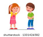 joyful girl kid showing tongue... | Shutterstock .eps vector #1331426582