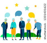 pensioners are talking. text...   Shutterstock .eps vector #1331431622