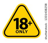 18 sign warning symbol isolated ... | Shutterstock .eps vector #1331438258