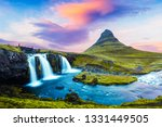 picturesque landscape with... | Shutterstock . vector #1331449505