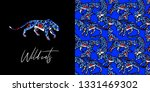 seamless pattern. leopard print.... | Shutterstock .eps vector #1331469302