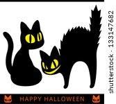 Stock vector halloween black cat 133147682