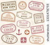 passport stamp set   novelty... | Shutterstock .eps vector #1331478755