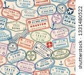 passport stamp seamless... | Shutterstock .eps vector #1331480522