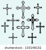 religious cross design... | Shutterstock . vector #133148132