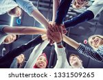 multiethnic group of young... | Shutterstock . vector #1331509265